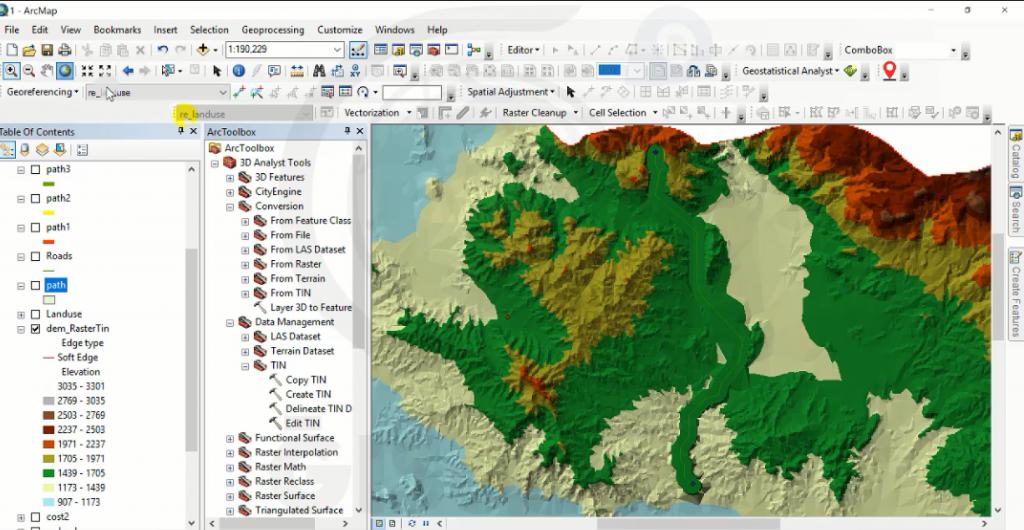 نمایش مسیر طراحی شده روی نقشه