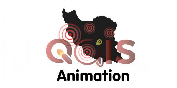 earthquake animation by QGIS dan